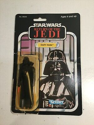 Vintage Star Wars Darth Vader Figure + Weapon Return Of The Jedi 77 Card Opened