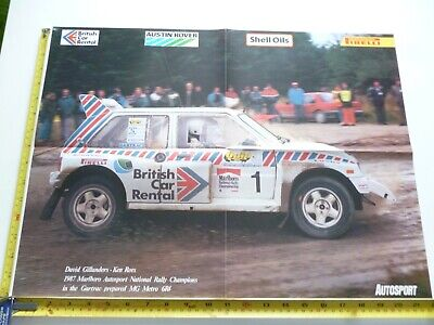 David Gillanders Gartrac Mg Metro 6R4 Marlboro National Rally Autosport Poster