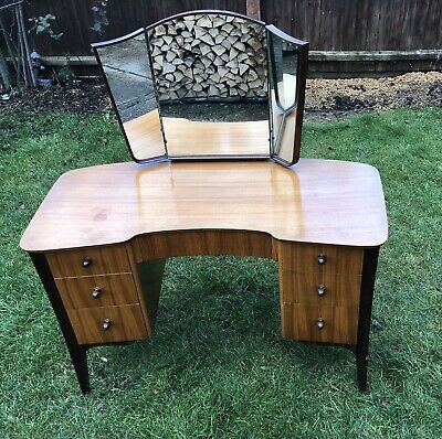 VESPER Furniture Dressing Table Desk Removable Mirror 1950's Vintage Antique