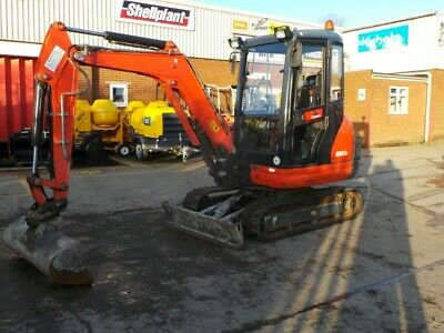 KUBOTA KX61-3 - Year: 2016 1360 HOURS  RUBBER TRACKED MINI DIGGER / EXCAVATOR
