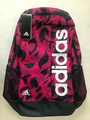 Adidas Rucksack Pink/Blue/White Backpack  Linear BP W GR  New  FREE UK POST