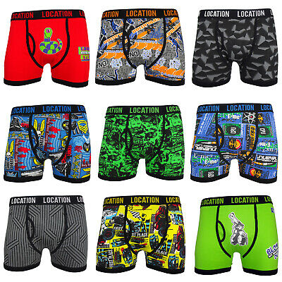 Mens Location Boxers 3 Pack Cotton Trunks Boxer Shorts Adults Underwear