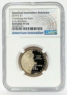 2019-S REVERSE PROOF American Innovation-Delaware $1 Classif. the Stars NGC PF70