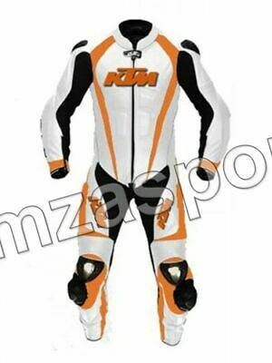 Motorcycle ktm Racing Leather Suit-MotoGp-CE Approved Protectors