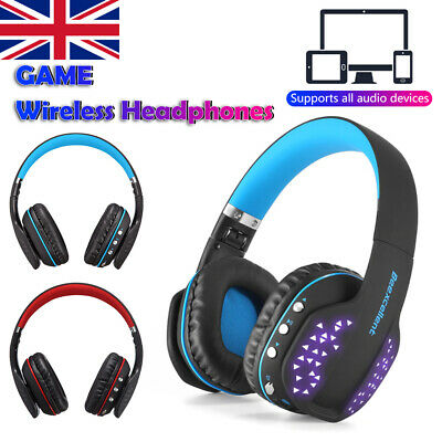 Wireless Gaming Headset Headphones Mic LED for PC Nintendo Switch PS4 Xbox one X