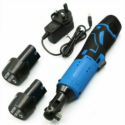 3/8'' 12V 90° 65Nm Electric Cordless Right Ratchet Angle Wrench Tool + Battery