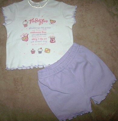 George Baby Girls Short Outfit Age 3-6  Months