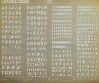 'GOTHIQUE' MECANORMA White Dry Transfer sheet LETTERS & NUMBERS 15mm #81.12