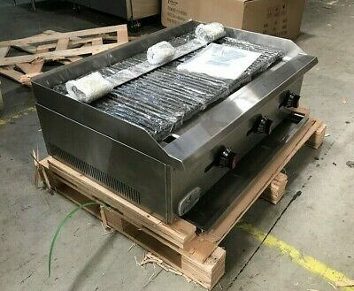 "36"" Radiant char broiler grill steak shrimp fish poultry commercial countertop"
