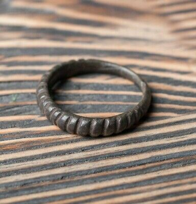 Rare Ancient Viking Twisted Bronze Ring 9th-11th century AD Pagan Jewelry