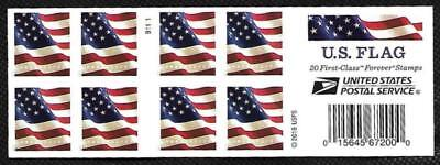 SCOTT 5160a FOREVER (49 CENT) US FLAG B1111 BOOKLET PANE OF 20 MNH FREE SHIPPING