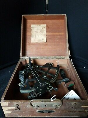 WWII Vintage Sextant US Navy Mark II with original box David White Co.