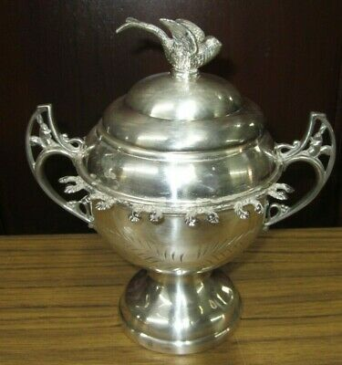 """8.5"""" Victorian Quadruple Silverplate Spooner By W.rodgers Silver About 1890"""