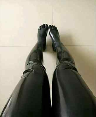 4361 Latex Rubber Gummi Stocking toes socks customized catsuit costume sexy .4mm