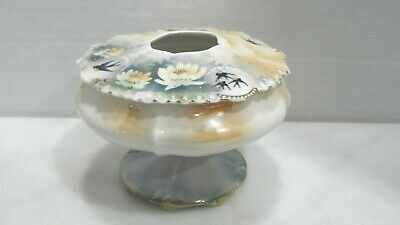 Antique RS Prussia Red Star Porcelain Hair Receiver Dresser Pedestal Dish