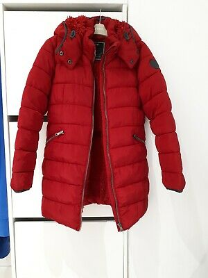 Girls NEXT warm Red Jacket With Hood, Age 10 years