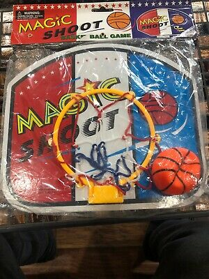 Toys MAGIC SHOOT Game Mini Basketball Backboard, Hoop Ring, Net & Ball