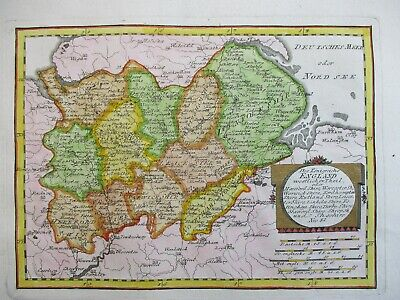 Antique Map of Central England by Von Reilly 1789