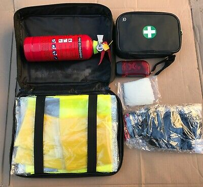 Jaguar Car Emergency First Aid Kit Fire Extinguisher Torch