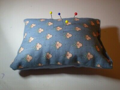 Blue Fabric Pin Cushion