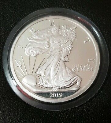 1 Silver American Eagle 5 Troy Oz. Round - Coin Sealed - Silvertowne Mint -   #2