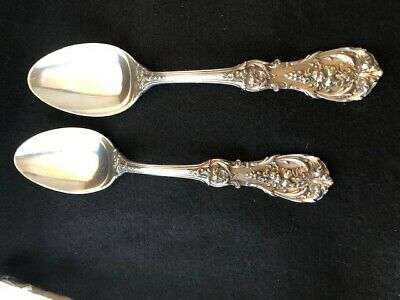 """Reed & Barton Francis I Sterling Silver 8 1/4"""" Serving Spoons Qty 2 Monogram"""