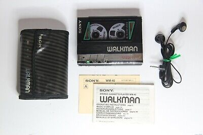 Sony Walkman WM-40 Complete with Accessories - Working Perfectly - Holy Grail!