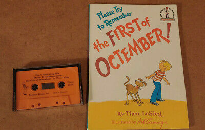 PLEASE TRY TO REMEMBER THE FIRST OF OCTEMBER Theo LeSieg w/ READ-ALONG Cassette