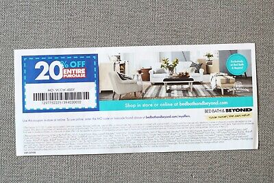 Bed Bath & Beyond coupon 20% off entire purchase expires  2/1/20