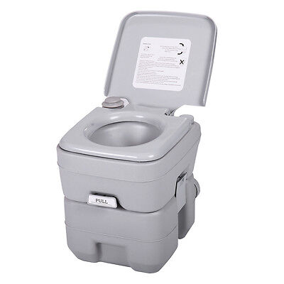 5 Gallon 20L Portable Toilet Flush Commode Camping Commode Potty Outdoor/Indoor