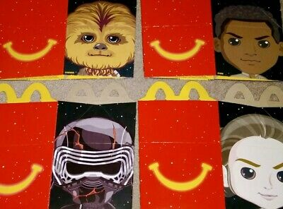 2019 McDonalds STAR WARS The Rise of Skywalker Happy Meal Box Complete Set Of 4