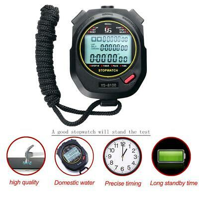 Handheld Digital Stopwatch Chronograph Sports Training Timer Stop Watch Counter