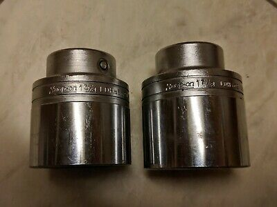 "Two Snap-on 3/4"" drive 12 point sockets LDH-562 1.3/4""  and LDH-602 1.7/8"" Nice"