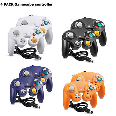 4 Pack Wired Classic NGC Controller for Nintendo Game Cube GC &Wii U Console