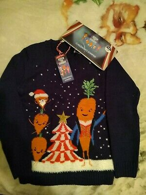 Aldi Kevin the Carrot Kids Christmas Jumper Age 9-10