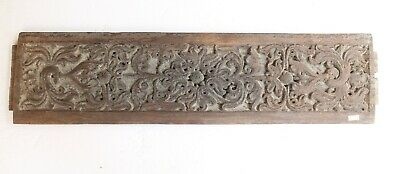 Antique Deep Hand Carved Wooden Fine Floral Design Islamic Old Wall Panel NH5205