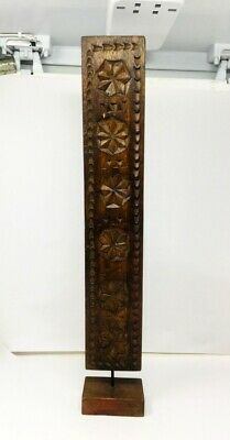 Antique Wooden Fine Floral Carved Hand Carved Panel With Stand
