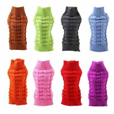UK Fashion Knitted Puppy Dog Jumper Sweater Pet Clothes For Small Dogs Coat S-XL