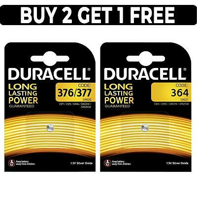 Duracell Silver Oxide 1.5V Watch Batteries 376 377 364 Battery SR626SW SR60