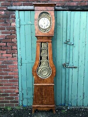 Antique French Belgian Comtoise Morbier Grandfather Clock