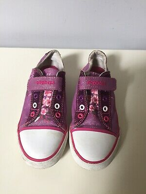 Clarks Doodle Girls Shoes Sparkly Pink