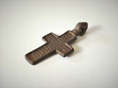 Antique Bronze Orthodox Cross 17-18 Ad