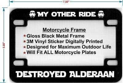 Glossy Black My Other Ride Is A Unicorn License Plate Frame Auto DEADPOOL