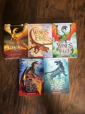 Wings of Fire 1-5 Boxed Set by Tui,T Sutherland Paperback Book