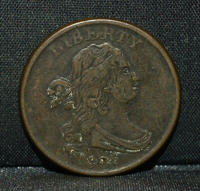 1806 1/2 Half Cent ✪ Vf Very Fine ✪ Draped Bust Small 6 Stemless L@@K ◢Trusted◣