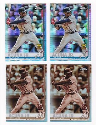 Ronald Acuna Jr Lot: 2019 Topps Chrome Prism And Sepia Refractors