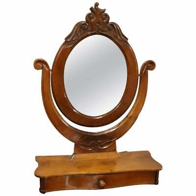 19th Century Italian Walnut Carved Dressing  Table antique Mirror, 1880s