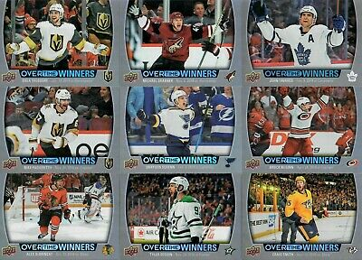 2019 - 20 Upper Deck Overtime Winners You Pick From List