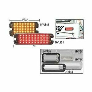 Directional Led: Rectangular Surface Mount, 12Vdc, 16 Flash Patterns, Amber