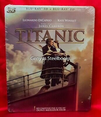 TITANIC 3D Collector's Steelbook Edition 4-Disc Set Import * Region Free